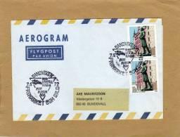Enveloppe Brief Cover Par Avion Aerogram Flygpost Par Avion Sandviken To Sundsvall - Suède