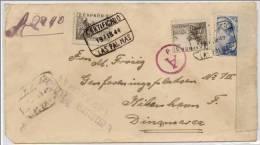 España 1944. Canarias. Correo Certificado De Las Palmas A Dinamarca. Censura. - Marcas De Censura Nacional
