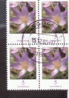 Bund Blumen / Flowers 4er Block   Krokus 2480 Gestempelt / Cancelled  / Oblitérè - Usados