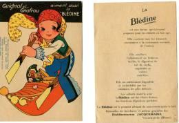 2 Images Bledine - Guignol Et Gnafrou - Hommage à Charlot - Reclame