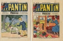 """Publicité Phoscao - 2 N° Les 53 Et 63 De La Revue """"le Pantin""""- Voiture à Chien - Reclame"""