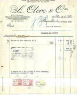 Bruxelles - 1946 - A. Clerc & Cie - Papeterie Spéciale Pour Le Commerce Et L'industrie - Printing & Stationeries