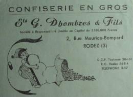 Confiserie G. Dhombres & fils - Rodez (Aveyron) - 1956