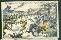 Une Vfigoureuse Contre Attaque Britanique Dans La Région De La Bassée - Illustration Signée A.H. Paris   - Bcc71 - Guerre 1914-18