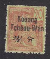 French Offices In Kwangchowan, Scott #7, Mint Hinged, Indo-China Stamp Overprinted, Issued 1906