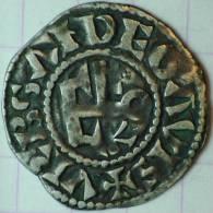 COMTE D´ANJOU FOULQUES IV DENIER ARGENT (1.09 GRAMME) TTB BEL EXEMPLAIRE - 476-1789 Monnaies Seigneuriales