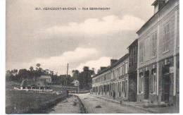 CPA HERICOURT EN CAUX 76 LA RUE SAINT REQUIER - Francia