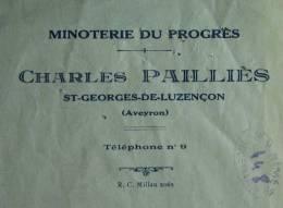 Minoterie Charles Pailliès, St Georges de Luzençon (Aveyron) - 1935