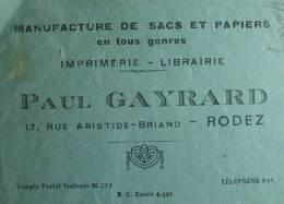 Manufacture de sacs et papiers, Paul Gayrard, Rodez (Aveyron) - 1934