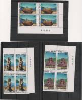 POLYNÉSIE  Année  1991 BLOC DE 4 N° Y/T : 386/388** Côte 31,00 € - Polynésie Française