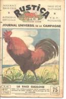 Rustica Hebdomadaire Illustré N°43 24 Octobre 1937  Coq La Race Gauloise  Au Dos Les Indésirables Du Poulaillers - Livres, BD, Revues