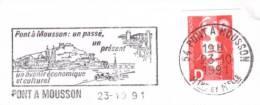 Sur Enveloppe - Pont à Mousson - Mariane De Briat - 20gr - 1991 - Cachet Rond -(G296) - Marcophilie (Lettres)