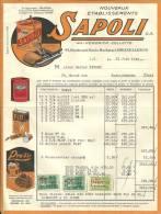 BRUXELLES  Nouveaux Etablissements  SAPOLI  Anc. HENDRICK COLETTE ....+ Timbres   21.06.1949 - Belgique
