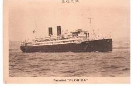 CPA BATEAU PAQUEBOT LE FLORIDA SOCIETE TRANSPORTS MARITIMES A VAPEUR AMERIQUE DU SUD PAR MARSEILLE - Dampfer