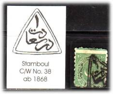 TURKEY , EARLY OTTOMAN SPECIALIZED FOR SPECIALIST, SEE... Postmark - 1868 - Stamboul No. 1 - C/W No. 38 - 1858-1921 Empire Ottoman