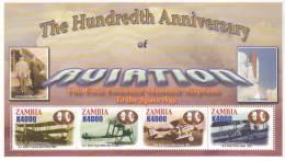 ZAMBIA AVIATION HISTORY FLUGZEUGE AVIONS AEREI MNH NEUFS ** WW - Flugzeuge