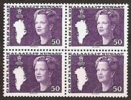 GREENLAND 1981 - FREIMARKEN: Queen MARGRETHE II - FLUOR 4x Ex Mi 126 MNH ** Cv€0,80 V508 - Non Classificati
