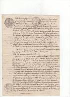 Acte Notarié,  1817 , Fermage , Pressy Sur Saône, 5 Timbres( Dont Timbre Humide Empire Annulé  Et Timbre Royal En Sus ) - Manuscripts