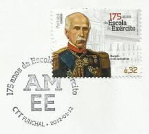 Portugal École De L´armée 2012 FDC Cachet Funchal Madère Army School 2012 FDC Madeira Postmark - FDC