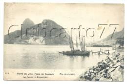 Rio De Janeiro (Brésil) : Morro Da Urca, Praia Da Saudade En 1910 (animée). - Rio De Janeiro