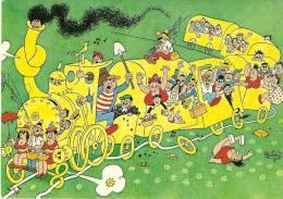 ILLUSTRATEUR DUBOUT TRAIN  EDITEUR PASTORELLY MONACO 1969 - Dubout