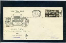 FDC VENETIA 1950 FIERA DI MILANO - 6. 1946-.. Repubblica