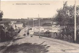 Cpa Perros-guirec, La Descente à La Plage De Trestraou, Bains - Perros-Guirec