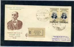 FDC VENETIA 1950 AUGUSTO RIGHI - 6. 1946-.. Repubblica