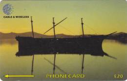 Falkland Islands,  FLK339B, Lady Elizabeth At Sunset, 2 Scans.   339CFKB. - Falkland Islands