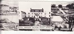 P12  Carte Panoramique 22cmx 9cm JERSEY Hôtel Maison VICTOR HUGO  Multi Vue - Jersey