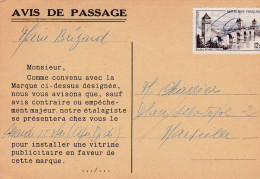 CARTE AVIS DE PASSAGE (dil26) - Maps