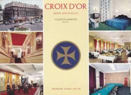 Cp , HÔTELS & RESTAURANTS , Croix D'Or , Hôtel-Restaurant , Valence-S/Rhône , Multi-Vues - Hoteles & Restaurantes