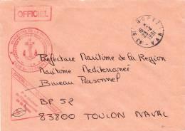 Courrier Officiel DCAN SAINT-TROPEZ - CAD SAINT-TROPEZ 23/04/1991 - Postmark Collection (Covers)