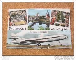 Lot 77 -( Vente Directe Soyez Le 1 Toulouse à Vol D´oiseau Sud Aviation Se 210 Caravelle Avion Qui Décolle Superbe !1961 - Aerodromes