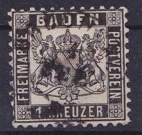 Bade - 1853 - Mi N°  17   Oblitéré  (m) - Bade