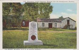 Wyoming Fort Bridger Monument Prairie Schooner Museum And Old He