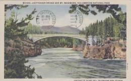 Wyoming Yellowstone National Park Chittenden Bridge And Mt Washb