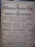 THE FOLKESTONE VISITORS FIST And SOCIETY JOURNAL.  1891.  (very Rare) - Crafts