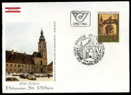 26353) Österreich - Michel 1814 - FDC - 200 Jahre Diozese St. Plöten - Kirche - FDC