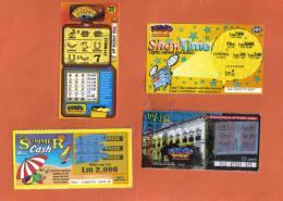 MALTA - 4 OLD LOTTERY TICKETS - - Lottery Tickets