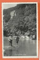 U085, Gorges De L'Orbe, 11949, Pêcheur, Animée,  Circulée 1935 - VD Vaud