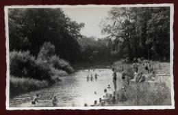 Cpa Carte Photo Stalag IX B Baignade Guerre 39-45   Cachet Au Dos     PONT26 - Guerre 1939-45