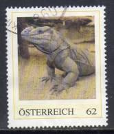 Oostenrijk, Persoonlijke Zegel, Gestempeld, Leguaan, Zie Scan - Personalisierte Briefmarken