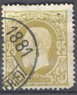 _Ni221 :  N° 32: Drukwerkstempel: BRUXELLES (R. CHANCELLERIE) 1881 - 1869-1883 Leopold II
