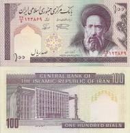 Iran P140g, 100 Rials, Modarres / Islamic Assembly Bldg,Ayatollah Khomeini W/m - Iran