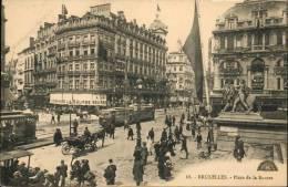 Bruxelles - Henri Georges N° 68  //  Place De La Bourse / Calèche + Trams - Belgique
