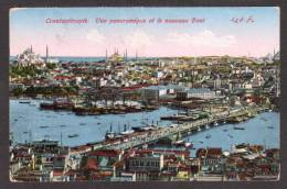 TY14) Constantinople - Panorama With Galata Bridge - Turkey