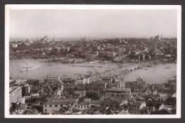 TY21) Istanbul - Panorama With Galata Bridge - Real Photo Postcard - Turkey