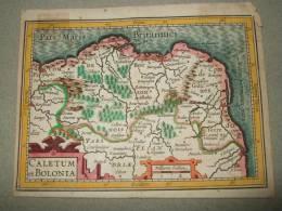 Carte Du Boulonnais Fin XVII° - Cartes Géographiques