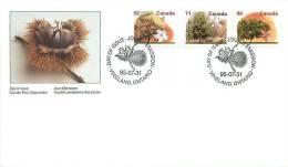 1995  Mid-value Definitives Fruit Trees Sc 1366, 1370, 1374 - 1991-2000